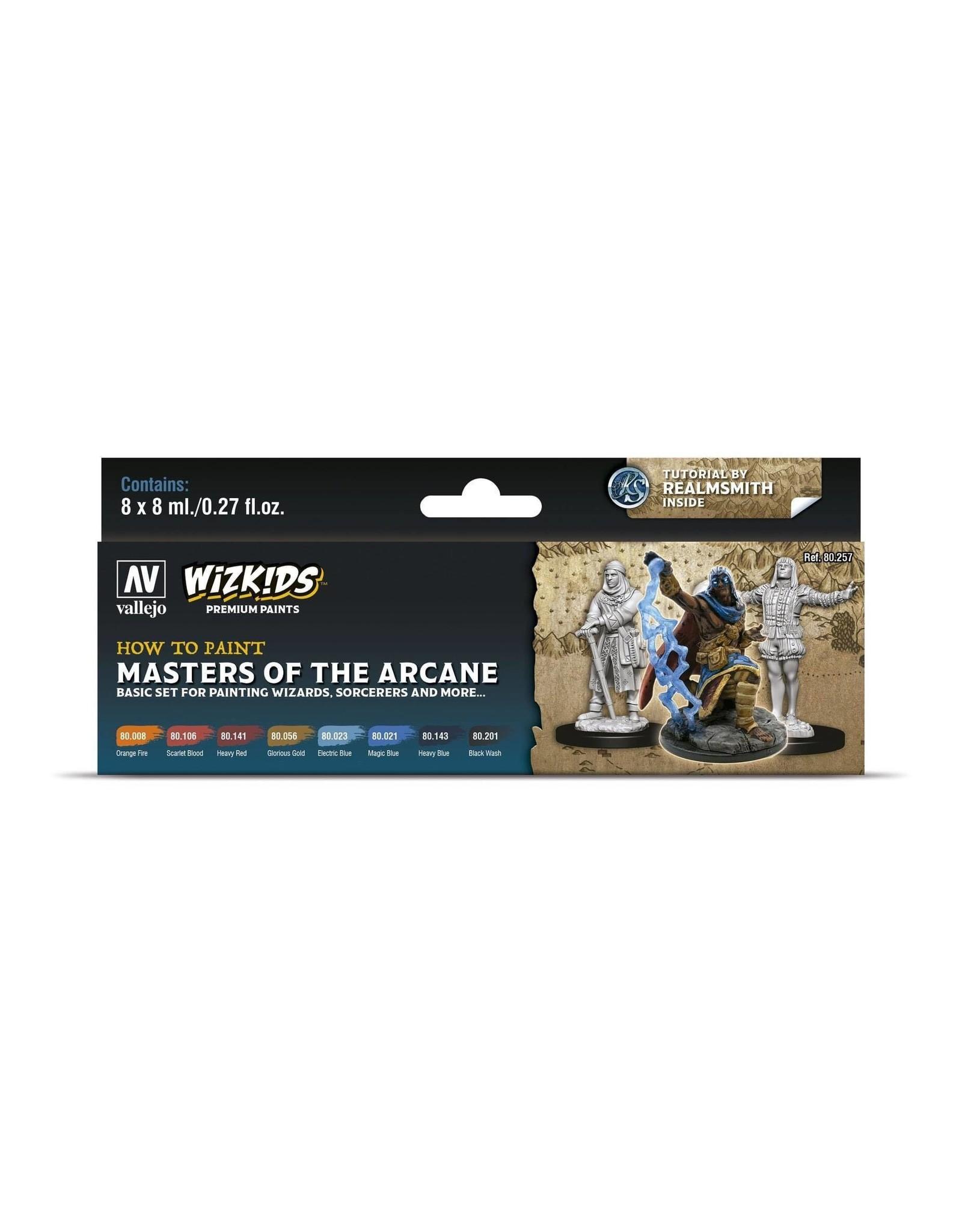 Vallejo Wizkids Vallejo Paint Set: Masters of the Arcane