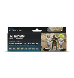 Vallejo Wizkids Vallejo Paint Set: Defenders of the Wild