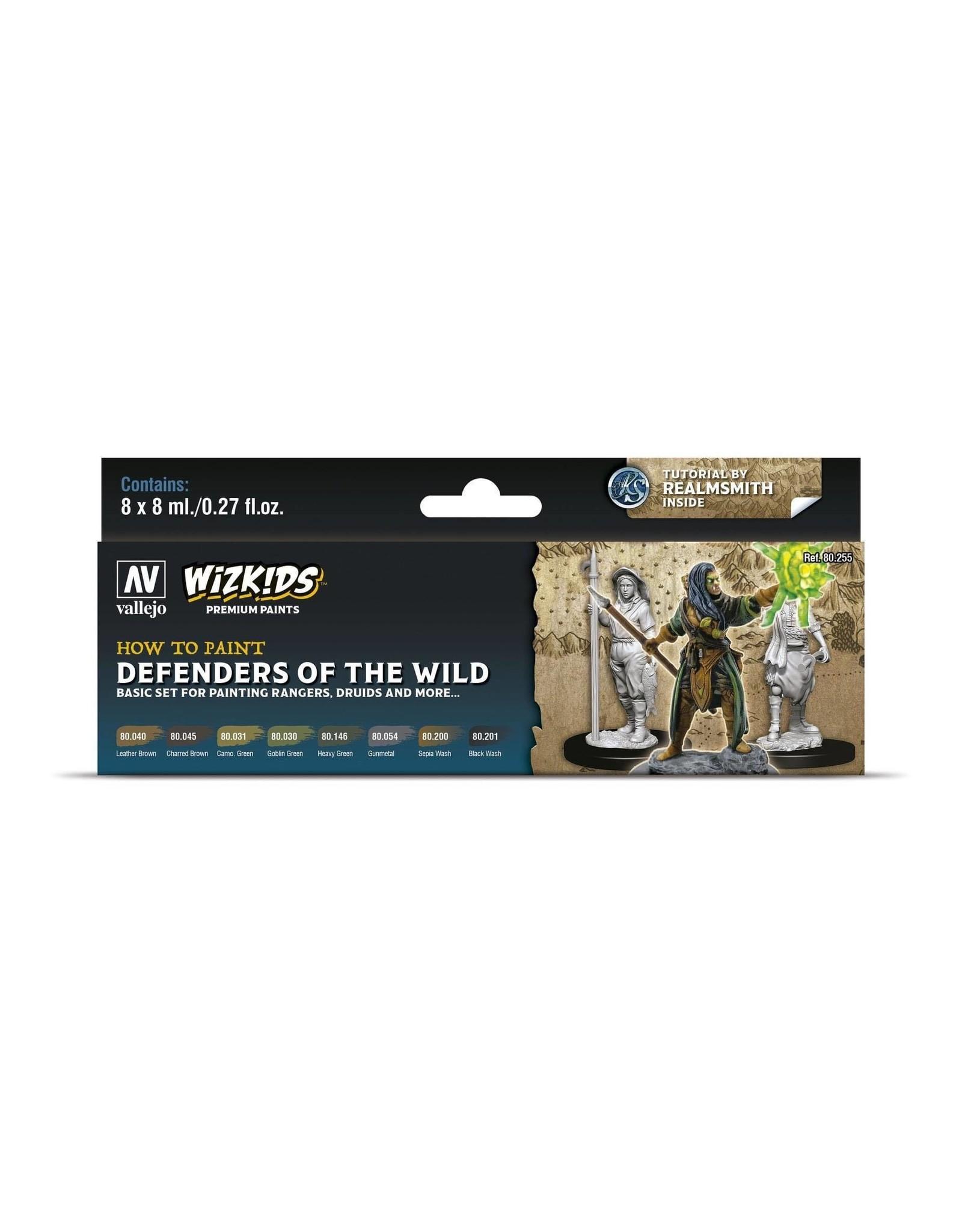 Vallejo Wizkids Vallejo Paint Set: Defenders of the Wild