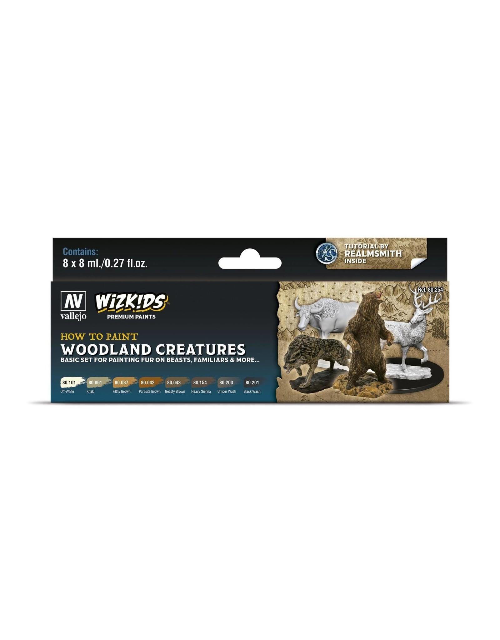 Vallejo Wizkids Vallejo Paint Set: Woodland Creatures