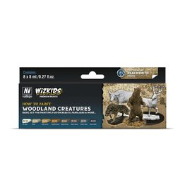 Vallejo Wizkids Vallejo Paint Set: Woodland Creatures