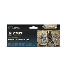 Vallejo Wizkids Vallejo Paint Set: Shadow Warriors