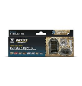 Vallejo Wizkids Vallejo Paint Set: Dungeon Depths