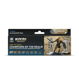Vallejo Wizkids Vallejo Paint Set: Champions of the Realm