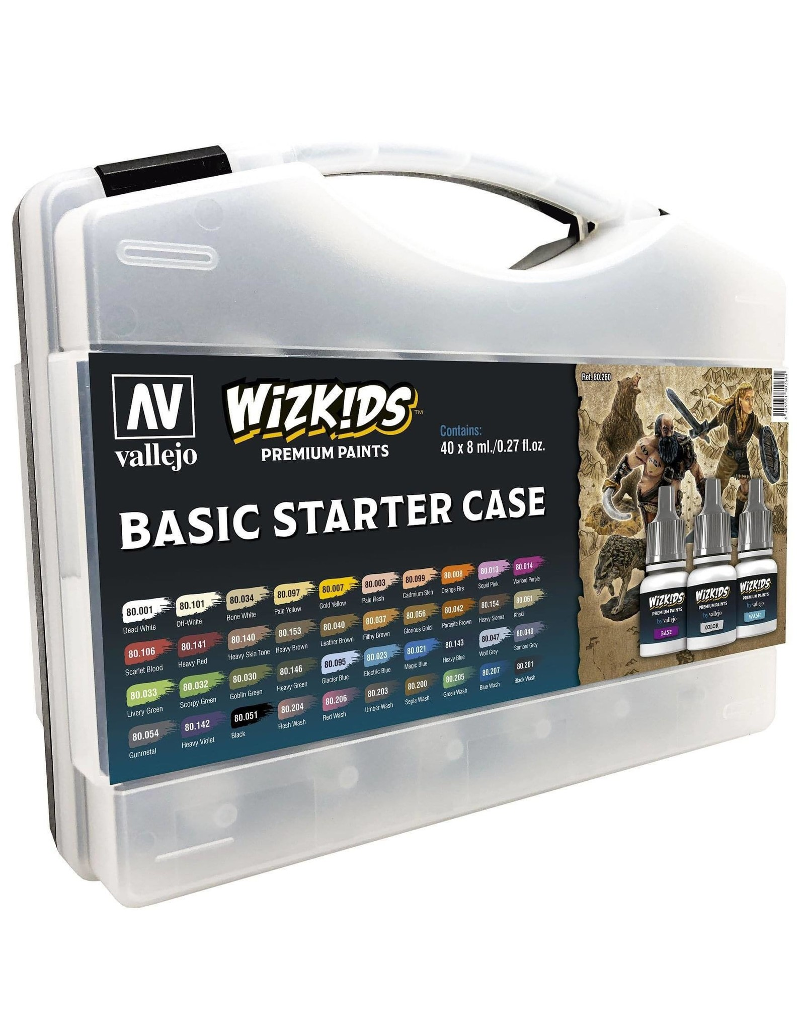 Vallejo Wizkids Vallejo Paint Set: Basic Starter Case