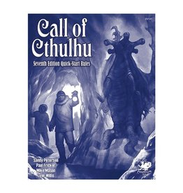 Chaosium  Inc. CoC: Call of Cthulhu 7E QuickStart Rules