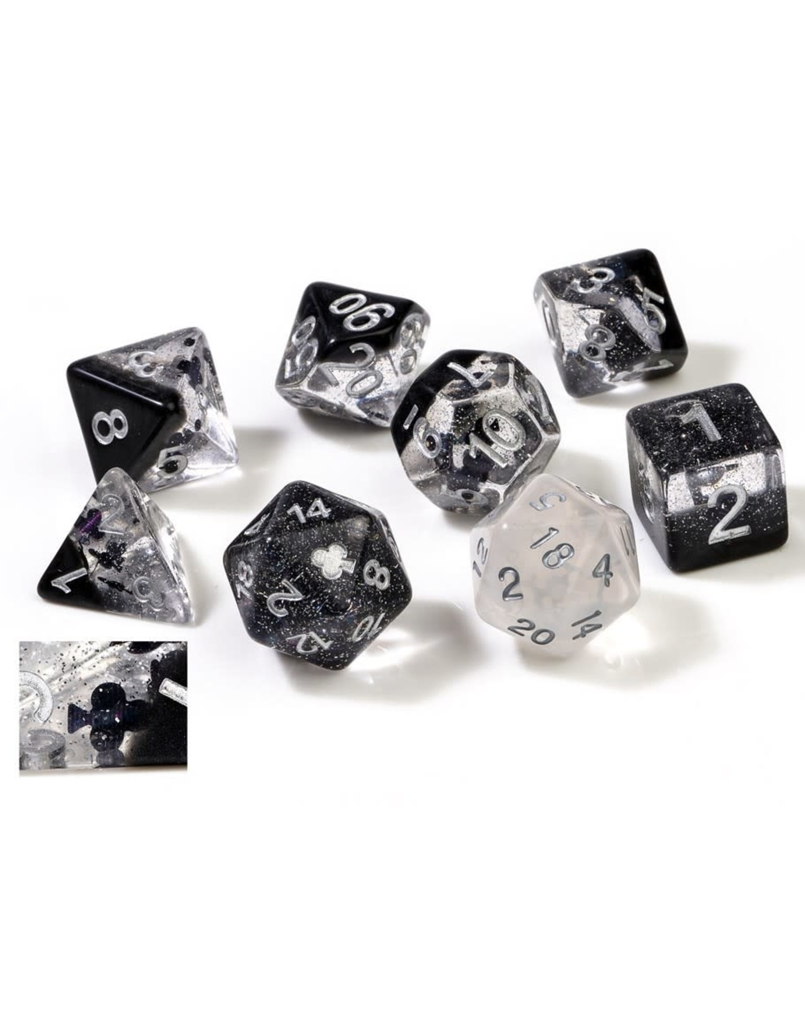 Sirius Dice RPG Dice Set: (7) Clubs