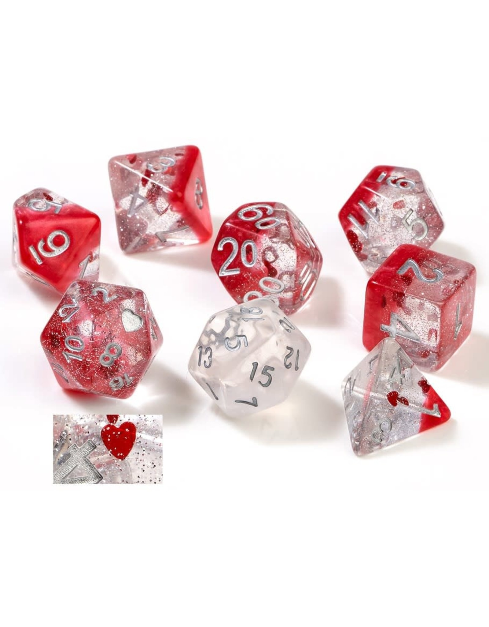 Sirius Dice RPG Dice (7) Set Hearts