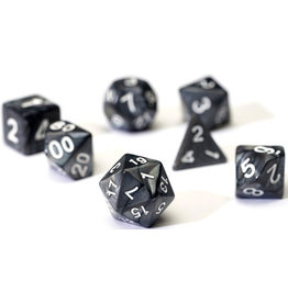 Sirius Dice RPG Dice Set (7): Pearl Charcoal Grey Acrylic