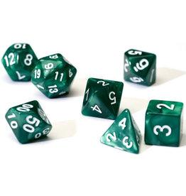 Sirius Dice RPG Dice Set (7): Pearl Green Acrylic