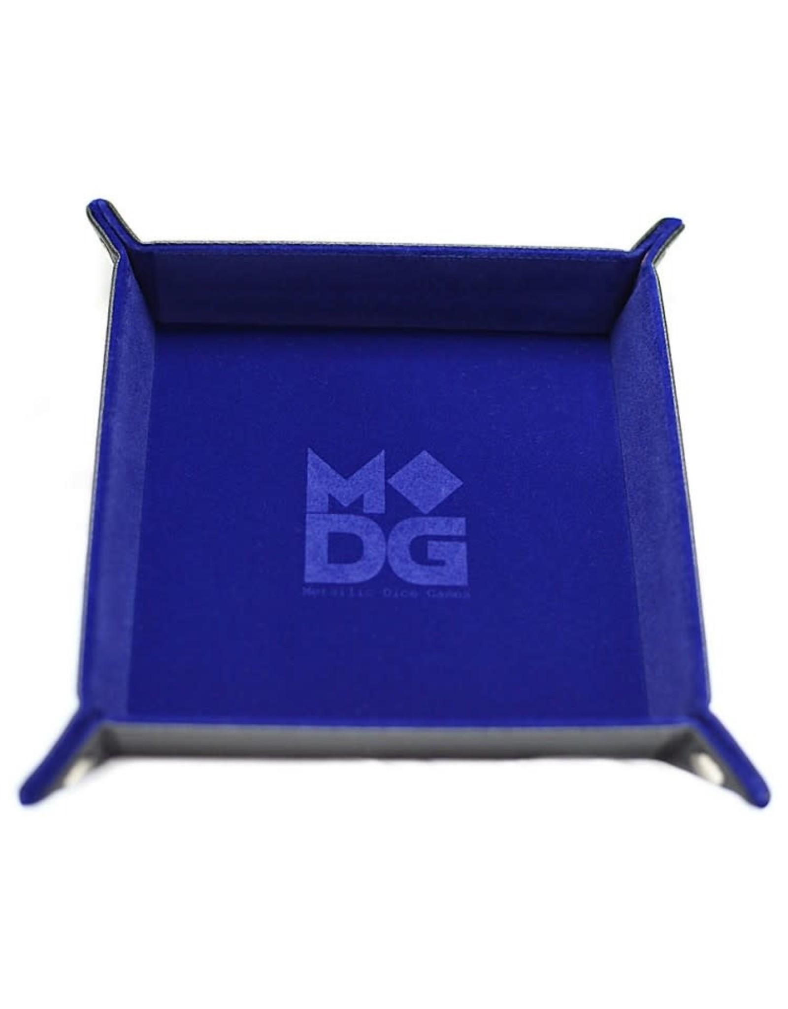 Metallic Dice Games Folding Dice Tray: Velvet 10in x10in BU