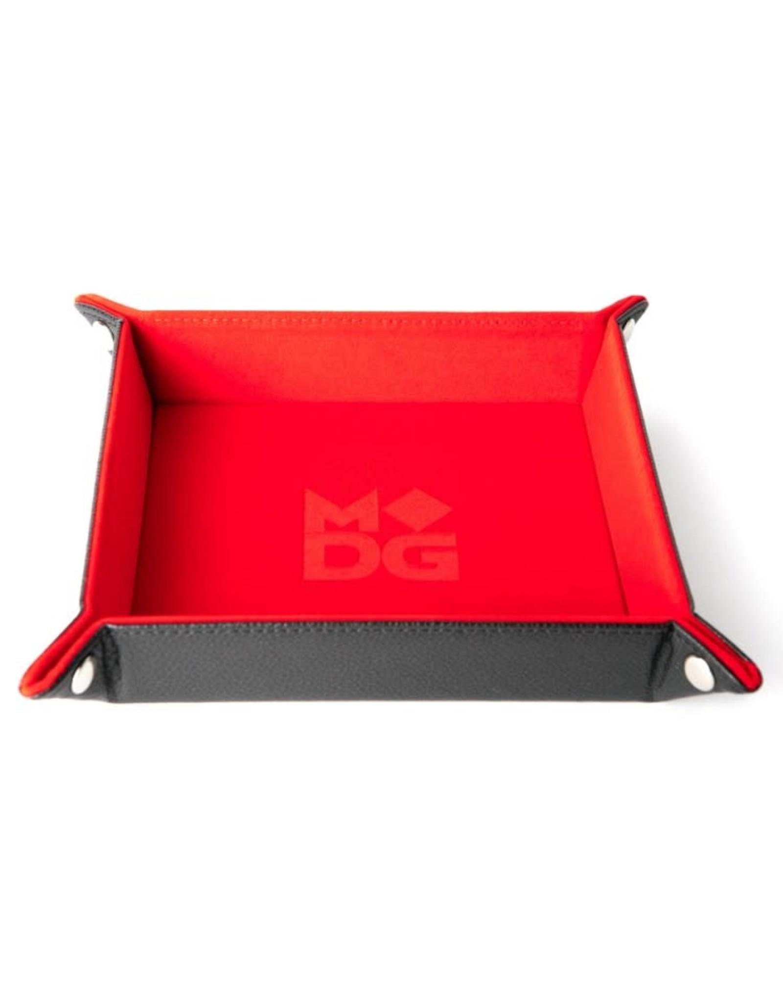 Metallic Dice Games Folding Dice Tray: Velvet 10in x10in RD