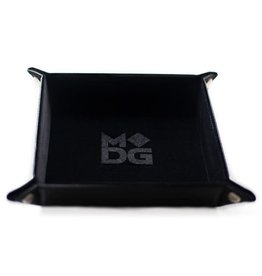 Metallic Dice Games Folding Dice Tray: Velvet 10x10 BK