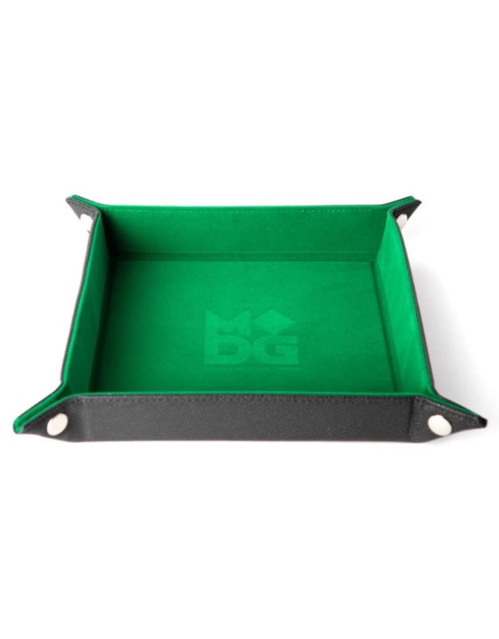 Metallic Dice Games Folding Dice Tray: Velvet 10in x10in GR