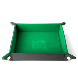 Metallic Dice Games Folding Dice Tray: Velvet 10x10 GR