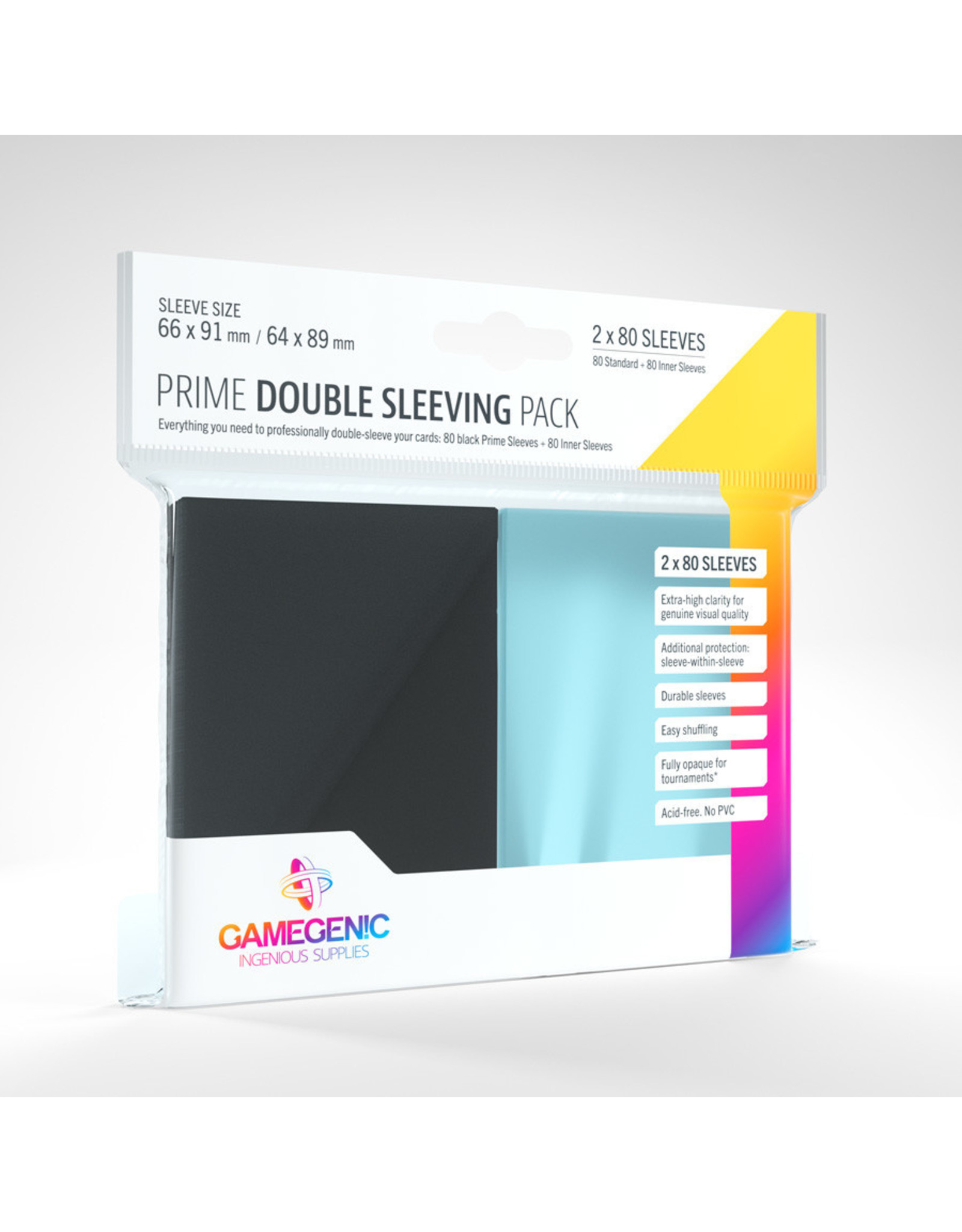GameGenic DP: Prime Double Sleeving Pack: BK