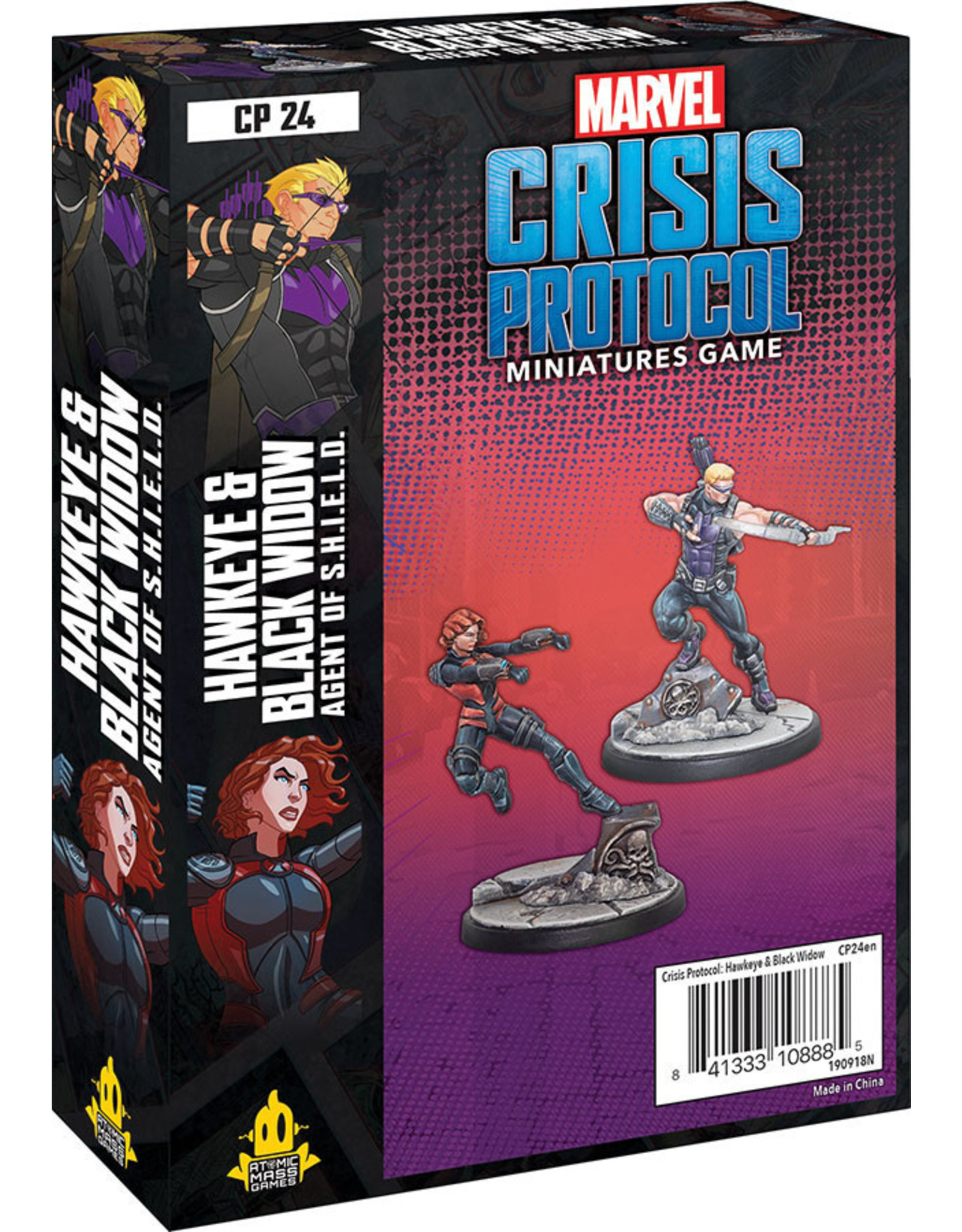 Atomic Mass Games Marvel: Crisis Protocol - Hawkeye and Black Widow Character Pack