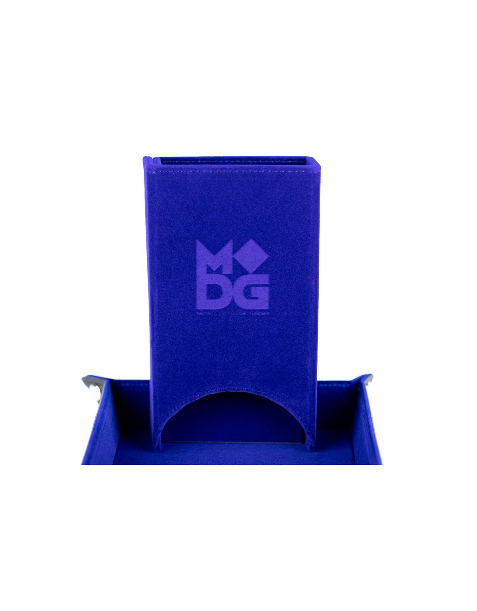 Metallic Dice Games Velvet Fold Up Dice Tower: Blue