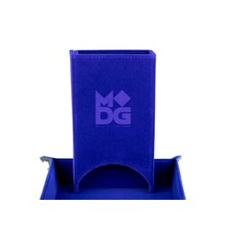 Metallic Dice Games Velvet Fold Up Dice Tower: Blue