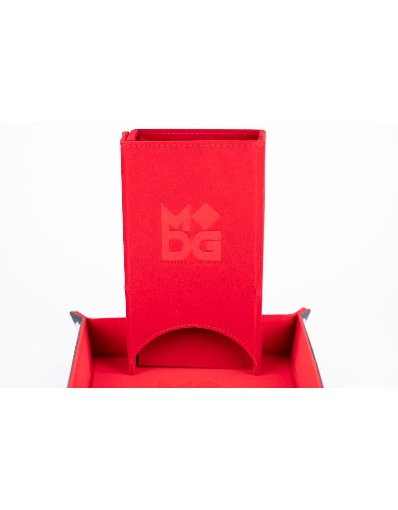 Metallic Dice Games Velvet Fold Up Dice Tower: Red