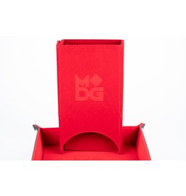 Metallic Dice Games Velvet Fold Up Dice Tower: Red