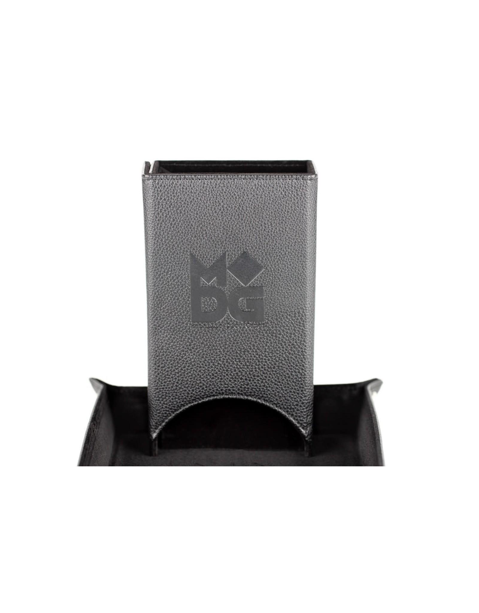 Metallic Dice Games Velvet Folding Dice Tower: Black