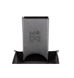 Metallic Dice Games Velvet Folding Dice Tower: Black