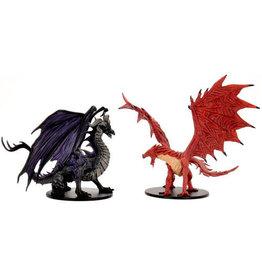 WizKids Pathfinder Battles: City of Lost Omens - Adult Red & Black Dragons Premium Set