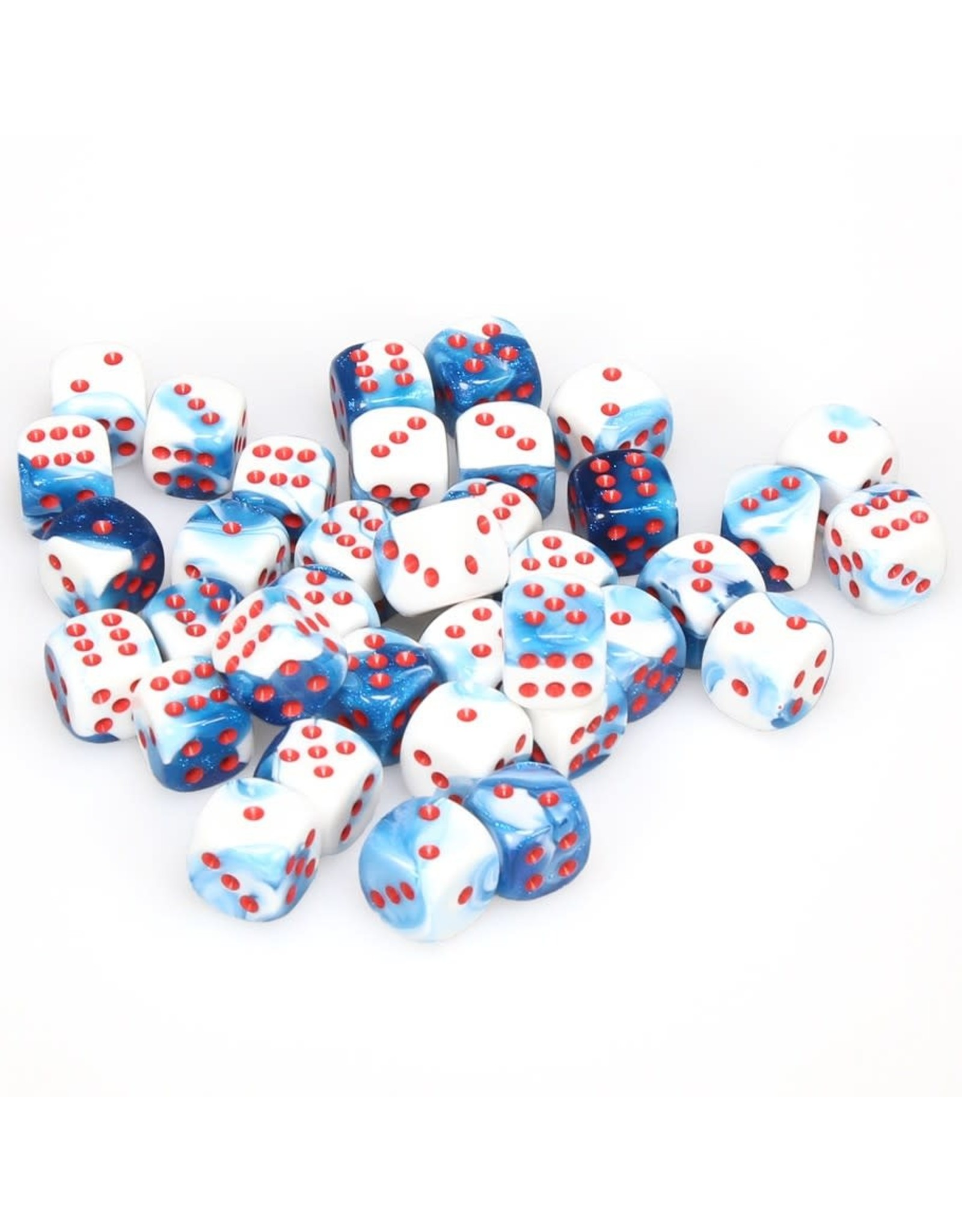 Chessex d6Cube12mmGemini#7 Astral BUWHrd (36)