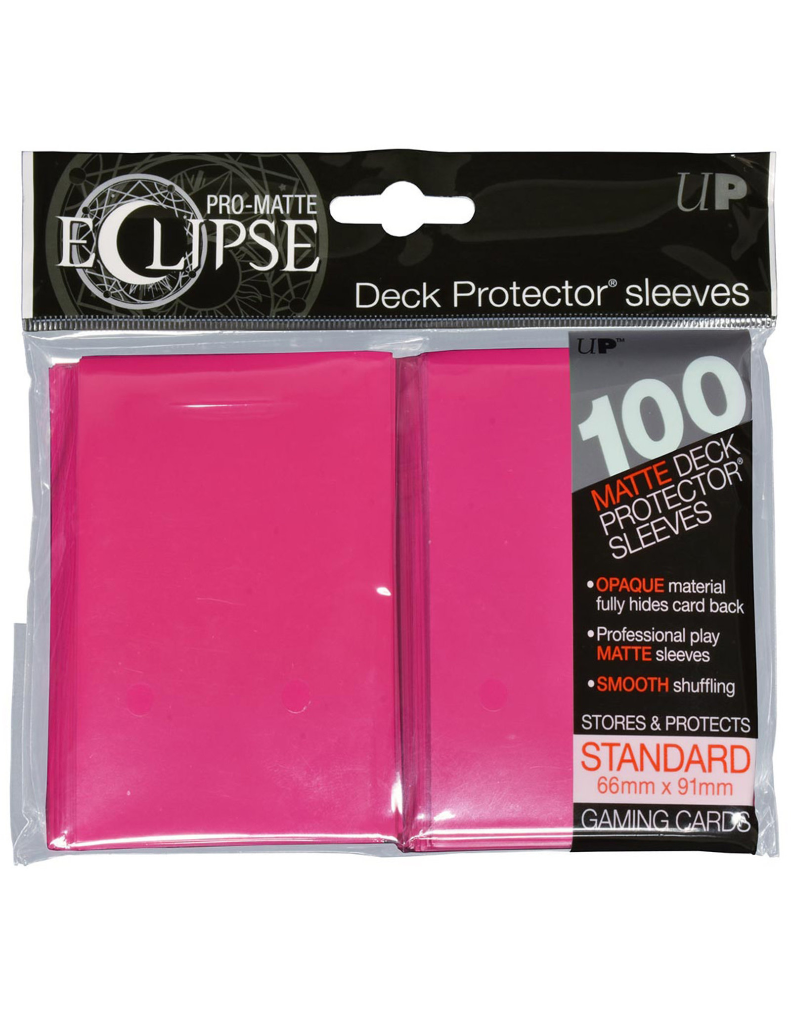 Ultra Pro Pro-Matte Eclipse 2.0 Standard Deck Protector Sleeves: Hot Pink (100)