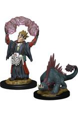 WizKids Wardlings: W3 Boy Warlock & Lizard