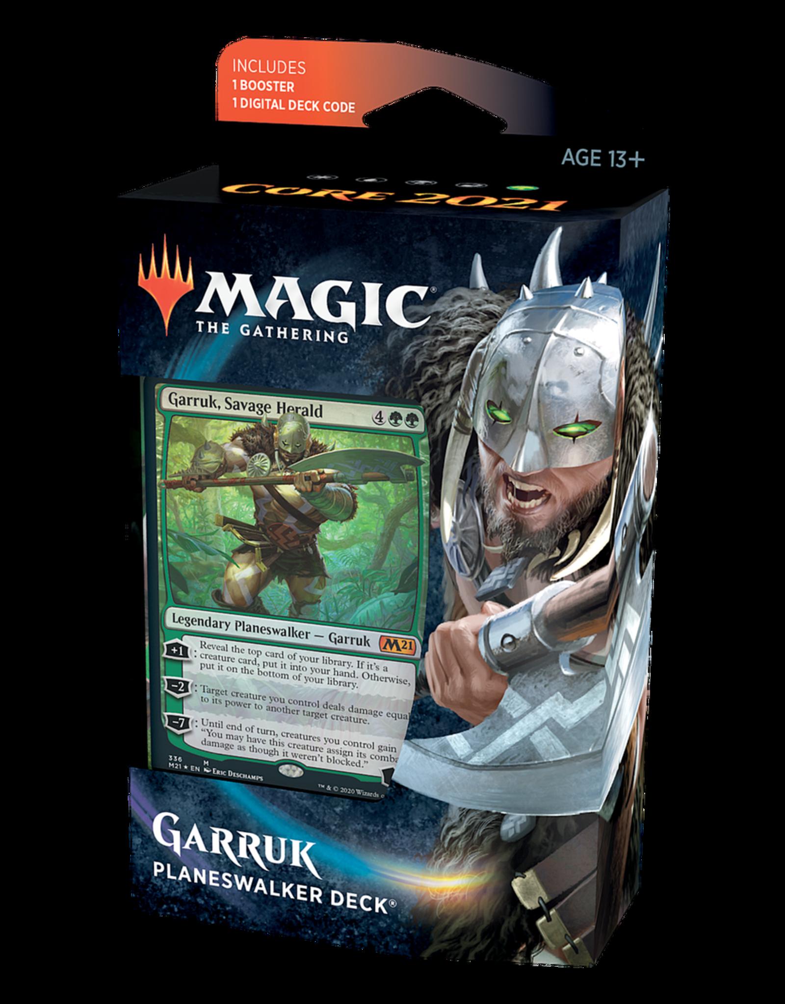 Wizards of the Coast MtG: Core 2021 Planeswalker Deck (Garruk, Unleashed)