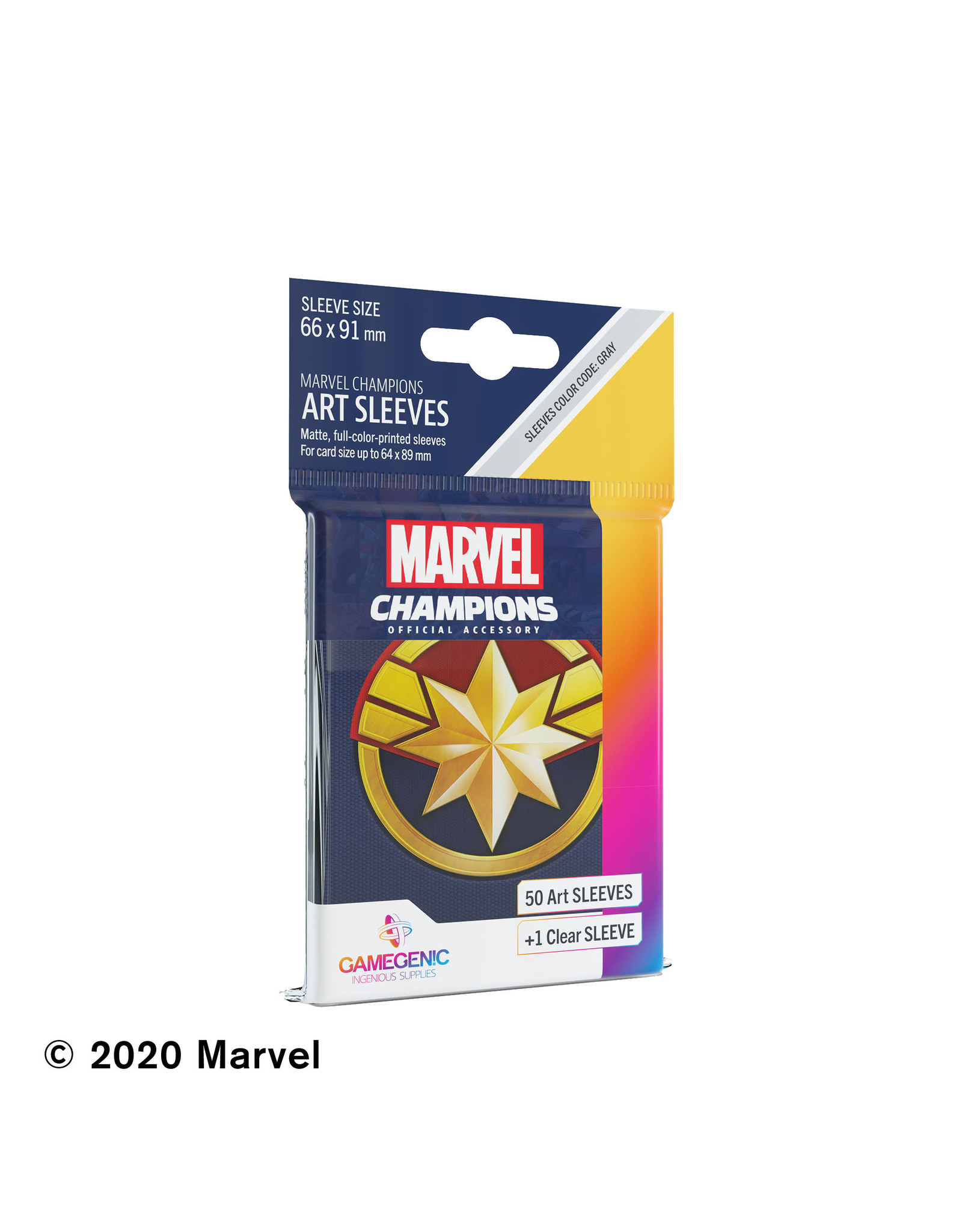 GameGenic Marvel Champions LCG: Captain Marvel Sleeves