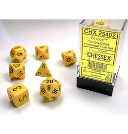 Chessex Opaque: Poly Set Yellow/Black (7)