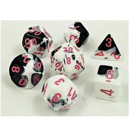 Chessex Chessex Polyhedral Dice Set: Lab - Gemini Black-White/Pink (7)