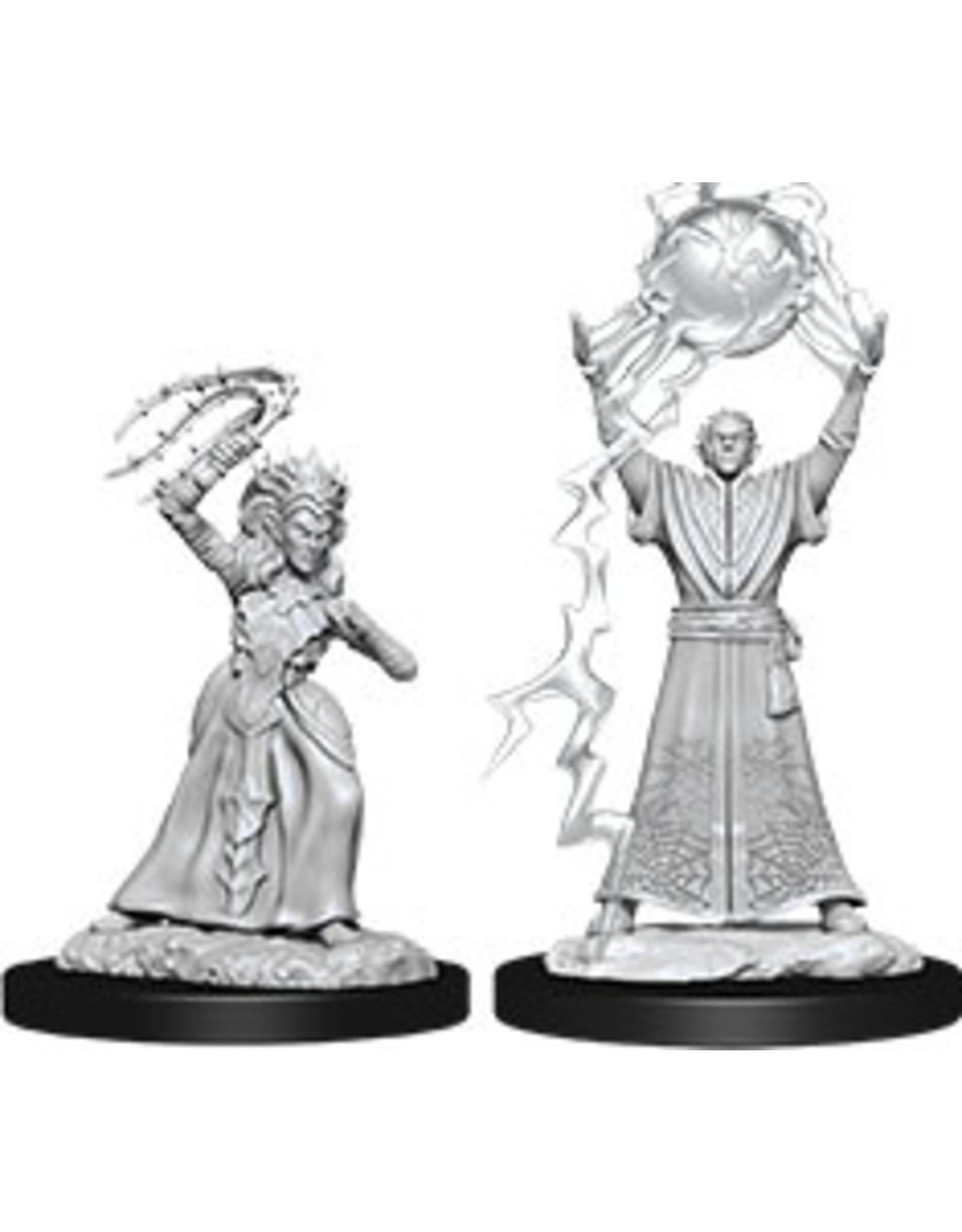 WizKids Dungeons & Dragons Nolzur`s Marvelous Unpainted Miniatures: W12 Drow Mage & Drow Priestess