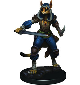 WizKids Dungeons & Dragons Fantasy Miniatures: Icons of the Realms Premium Figures W3 Female Tabaxi Rogue