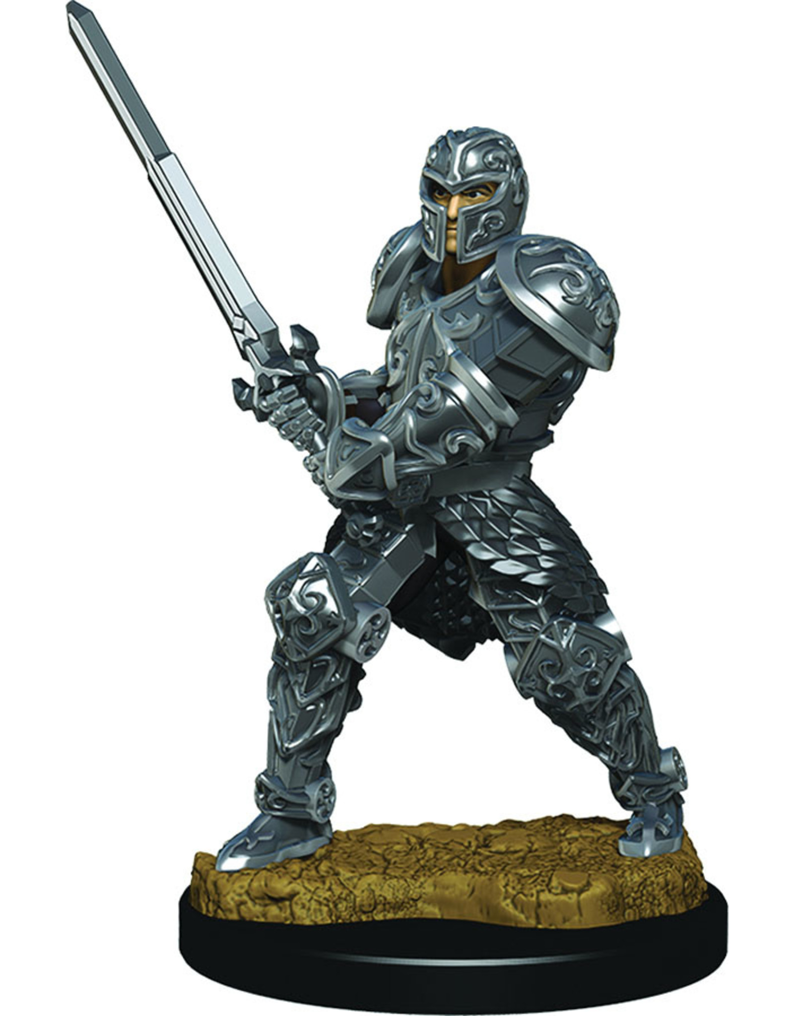 WizKids Dungeons & Dragons Fantasy Miniatures: Icons of the Realms Premium Figures W3 Human Male Fighter