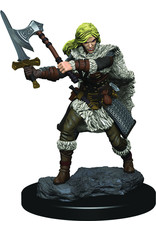 WizKids Dungeons & Dragons Fantasy Miniatures: Icons of the Realms Premium Figures Human Female Barbarian