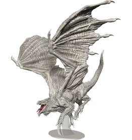 WizKids Dungeons & Dragons Fantasy Miniatures: Icons of the Realms - Adult White Dragon Premium Figure