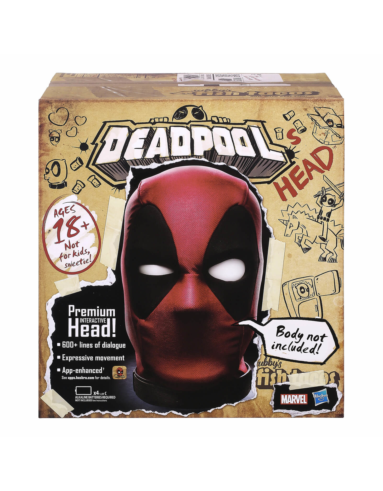 Marvel Marvel Legends Deadpool's Head Premium Interactive, Moving, Talking Electronic, App-Enhanced Adult Collectible, with 600+ SFX and Phrases