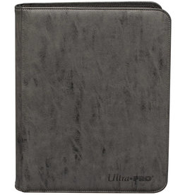 Ultra Pro Pro-Binder: Premium Zippered 9-Pocket Suede - Jet