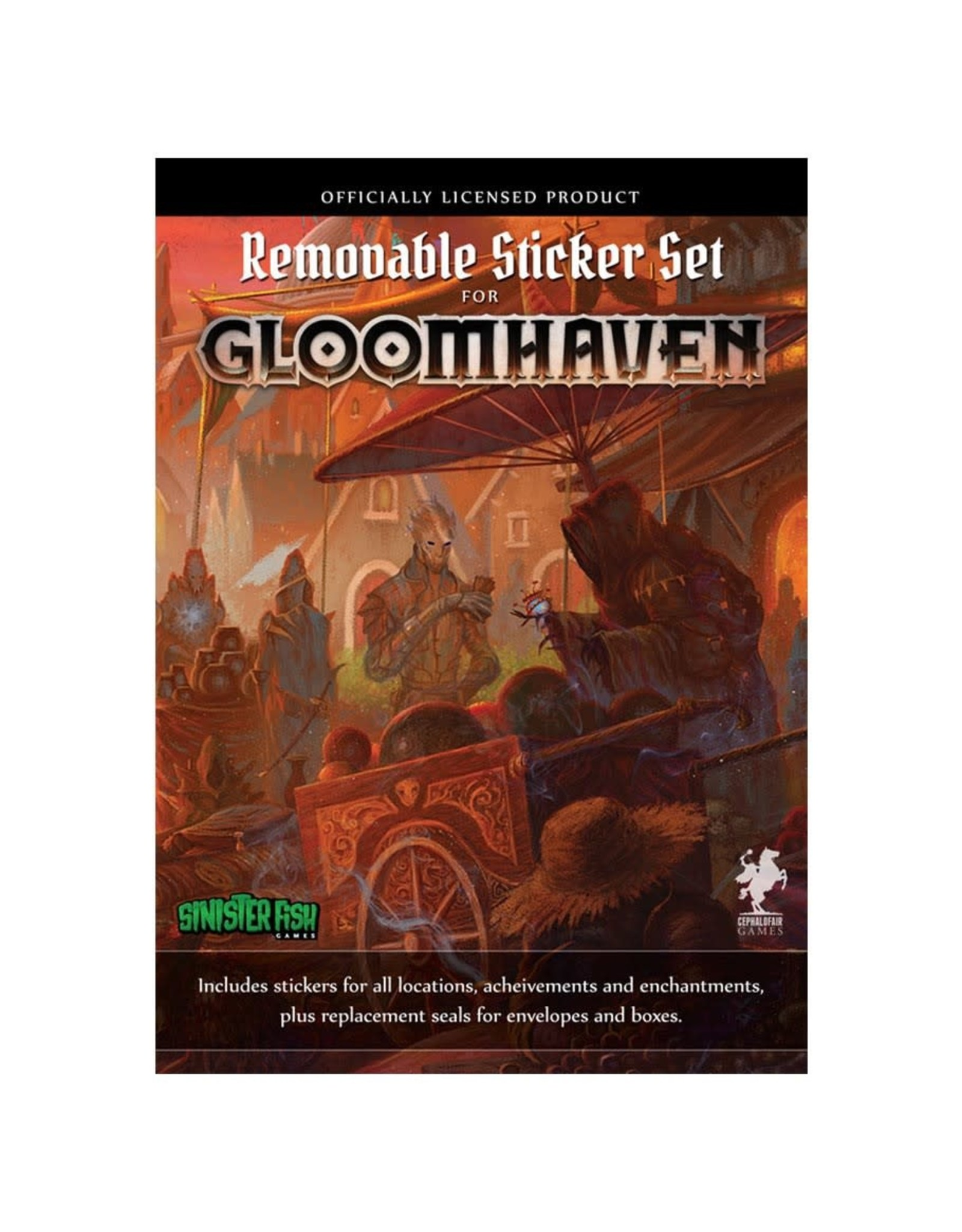 Cephalofair Games Gloomhaven: Removable Sticker Set