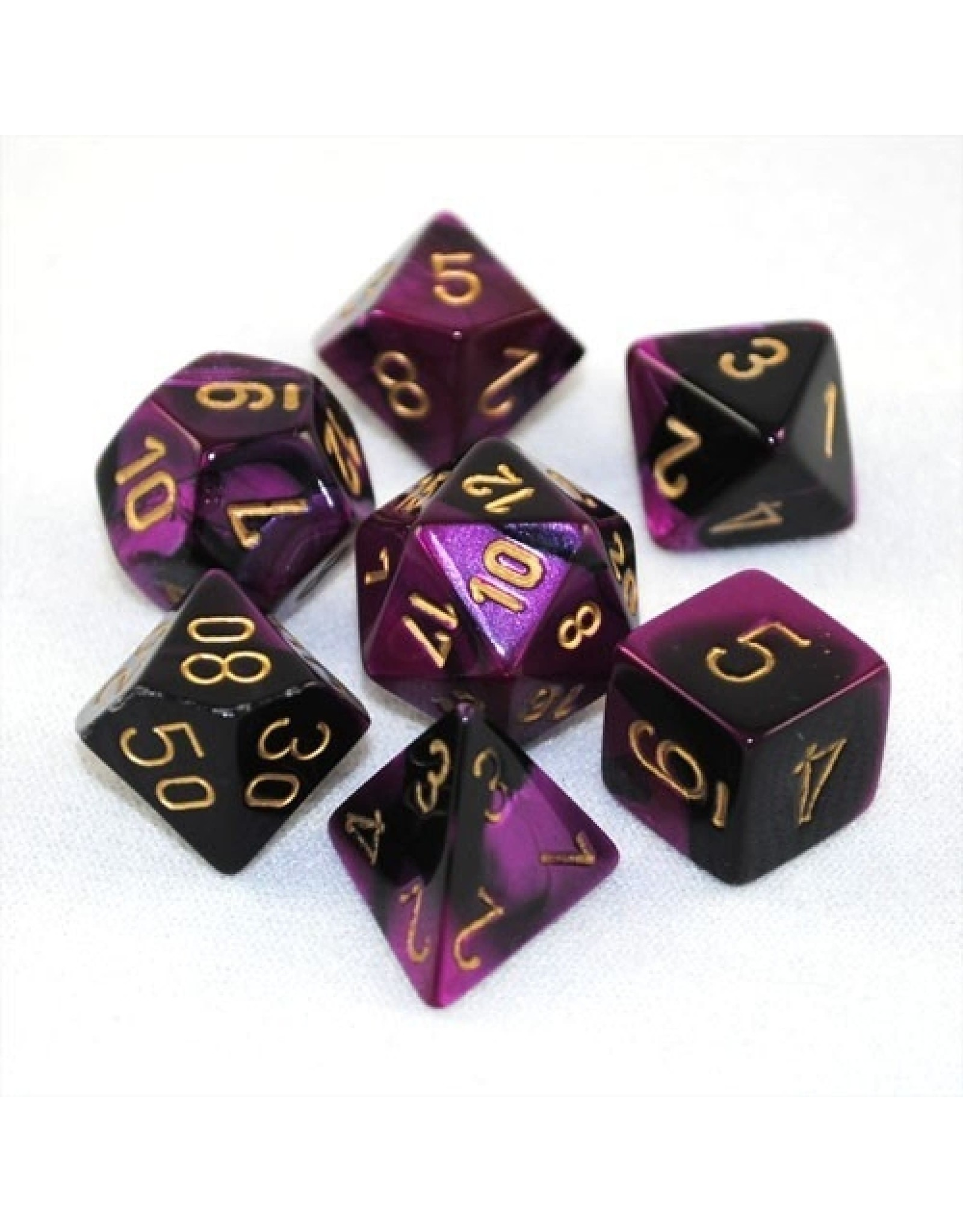 Chessex 7-setCubeGemini#4 BKPUgd