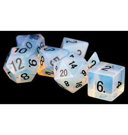 Metallic Dice Games Metallic Dice Games: 16mm Polyhedral Set - Stone Opalite (7)