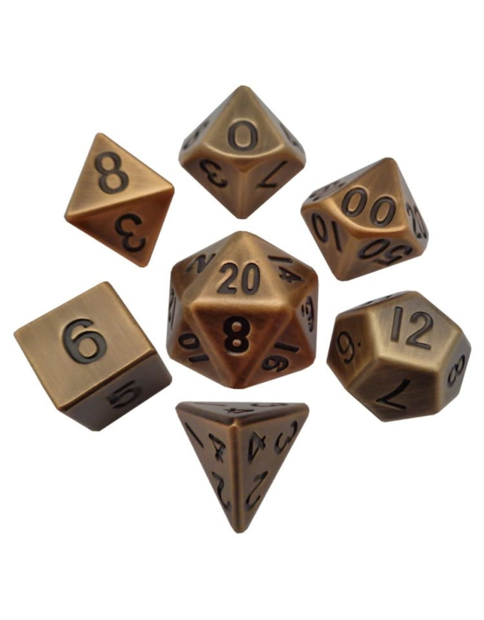 Metallic Dice Games 7-set: Antique GD Metal
