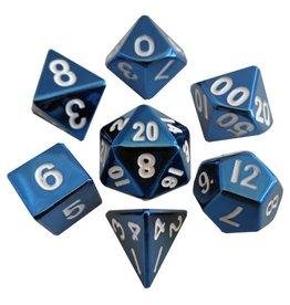 Metallic Dice Games 7-set: BU Painted Metal