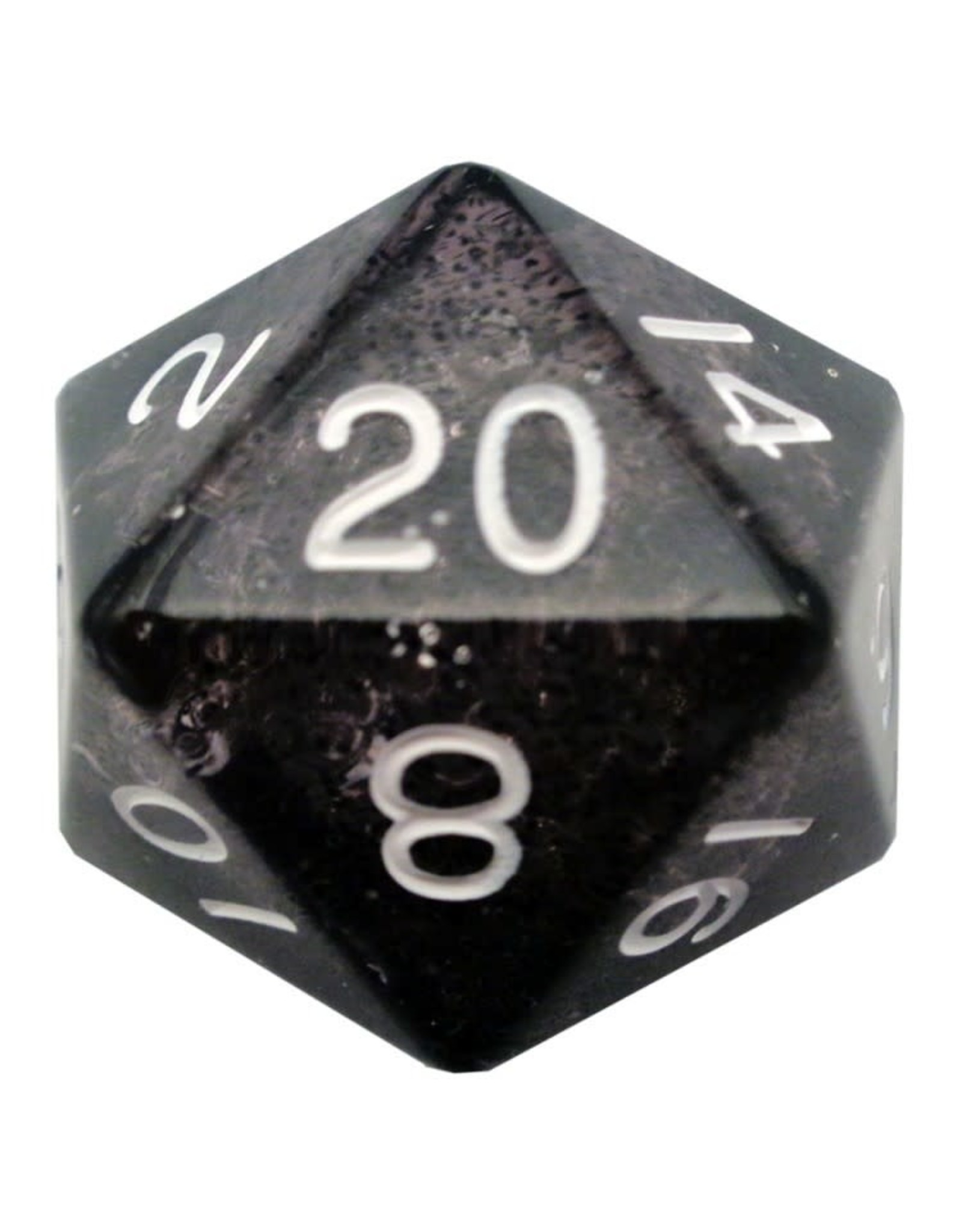 Metallic Dice Games d20 Single 35mm Mega Ethereal BKwh