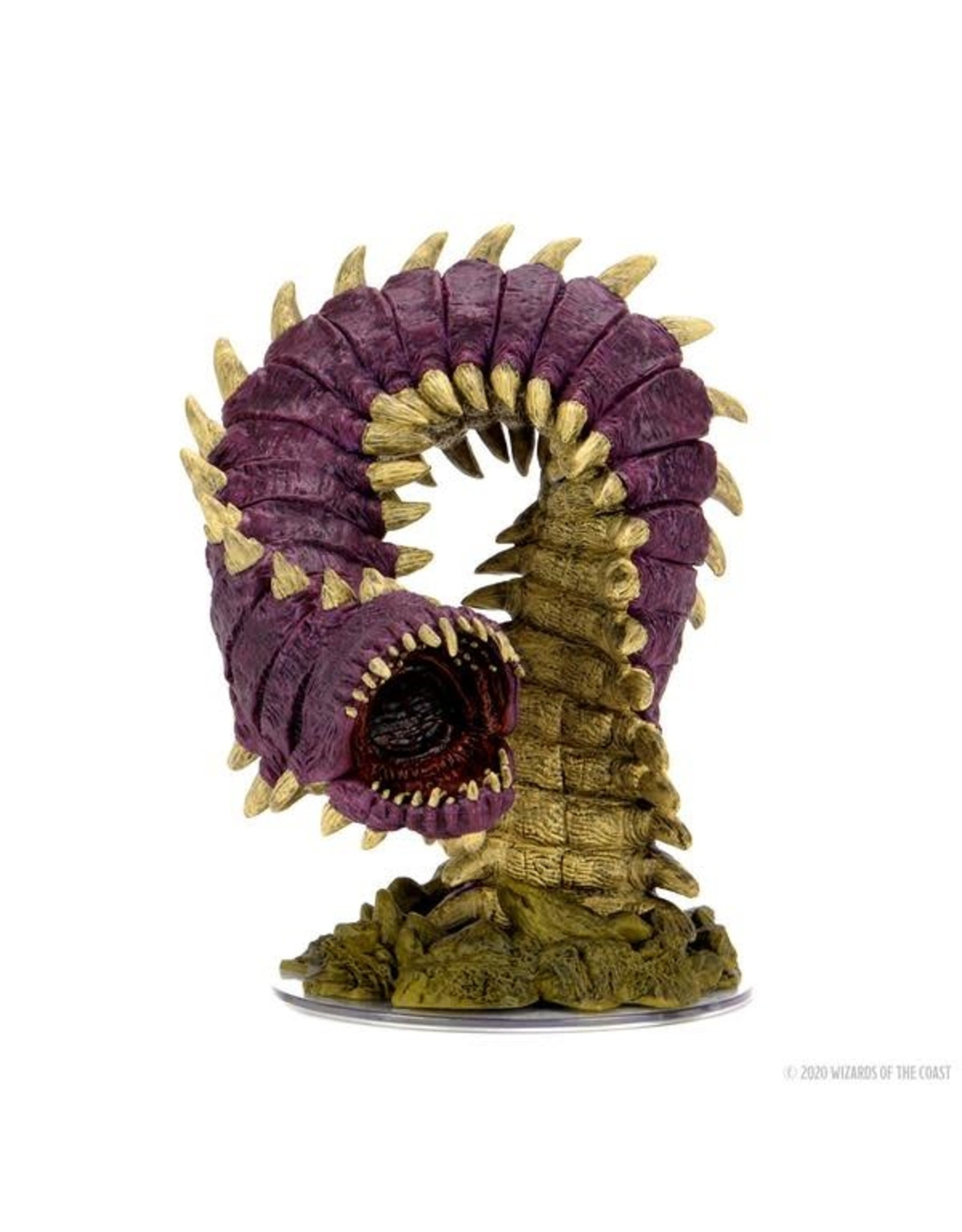 WizKids Dungeons & Dragons Fantasy Miniatures: Icons of the Realms Set 15 Fangs and Talons - Purple Worm Premium