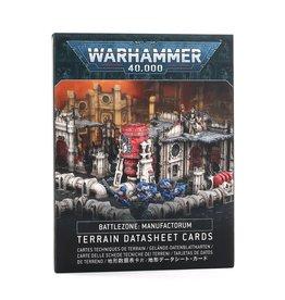 Games Workshop Warhammer 40k: Battlezone: Manufactorum – Terrain Datasheet Cards